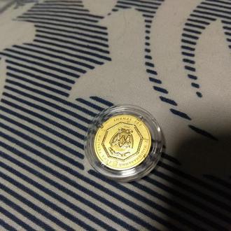 Золотая монета Архистратиг Михаил 3.11 гр 999.9 пробы