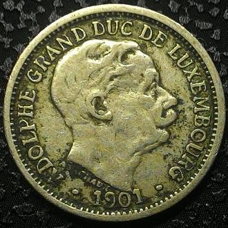 Люксембург 10 сантимов 1901 ADOLPHE,