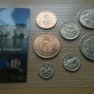 Набор монет Новая Зеландия 1965 года блистер запайка набір Нова Зеландія пластик