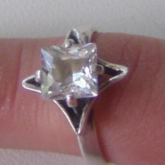 Кольцо,  серебро 925, фианит.