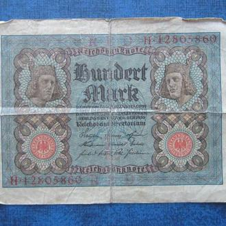 Банкнота 100 марок Германия 1920 общегосударственная
