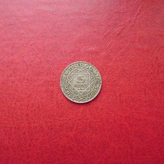 Марокко 5 франков 1934 Редкий серебро
