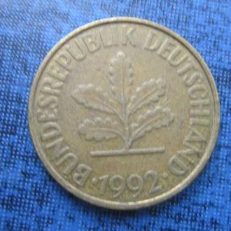 монета 10 пфеннигов ФРГ 1992 A