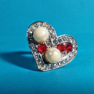Кольцо Сердечко бижутерия