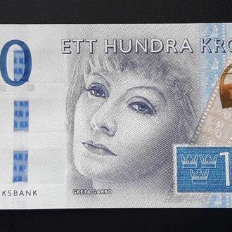Швеция 100 крон 2016 Sweden UNC