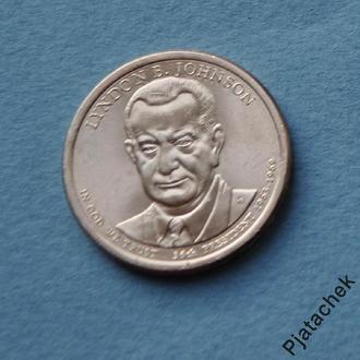 США 1 доллар 2015 г Линдон Джонсон 36-й президент