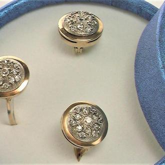 Набор СССР серьги кольцо перстень серебро 925 проба 10,42 гр размер 19