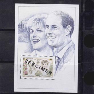 GB  Ст. Винсент 1981 г MNH - надпечатка - SPECIMEN -