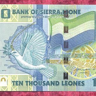Боны Африка Сьера Леоне 10000 леонов 2010 г.
