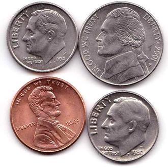 США - 4 монеты - 2а скана -