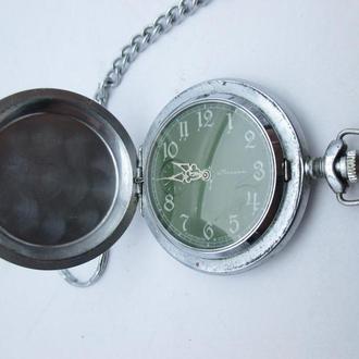Часы карманные СССР Молния с крышкой