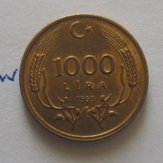Турция. 1000 лир 1995 года (состояние).