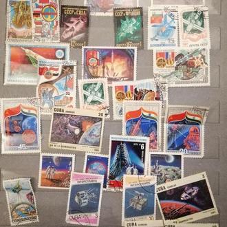 Альбом с марками СССР,Куба,Словакия,Чехия,Польша и другие.