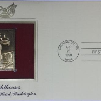 конверт первого дня США-маяки