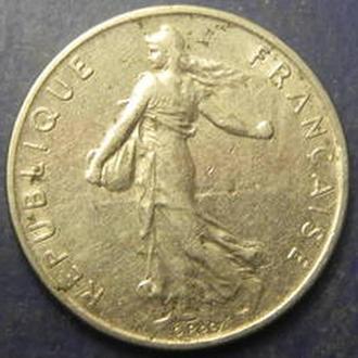 1/2 франка Франция 1977