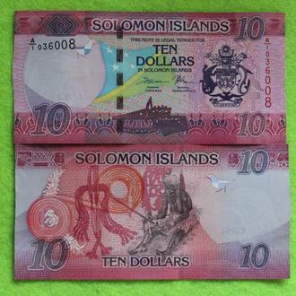 Соломоновы острова 10 долларов  UNС