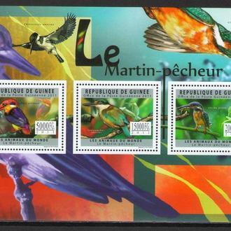 Гвинея 2011 ** Фауна Птицы 18-00 евро БЛ MNH