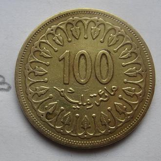 ТУНИС 100 миллим 1996 г.