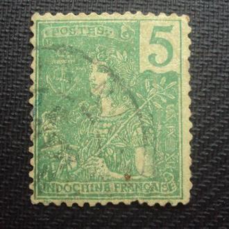 Колонии Франции. Индокитай. гаш. 1904г.
