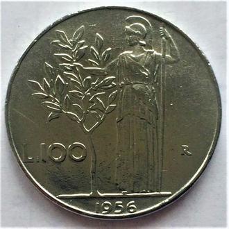 100 лир Италия 1956