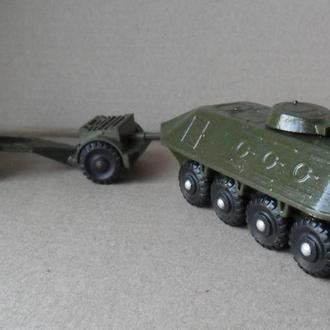 Модель амфибия + зарядный ящик+ пушка противотанковая, военная техника СССР USSR