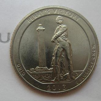 США 25 центов 2013 года (ОГАЙО, PERRY'S VICTORY).