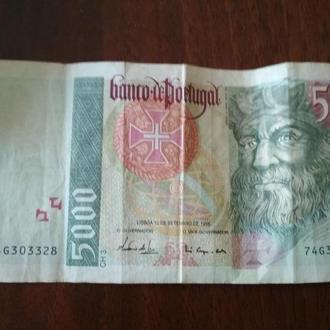 Португальский эскудо 5000