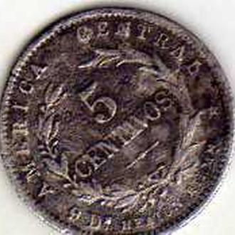 Коста - Рика 5 центаво 1890г