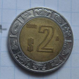 МЕКСИКА, 2 песо 2006 г. (биметалл).