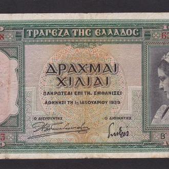 1000 драхм 1939 г. Греция.