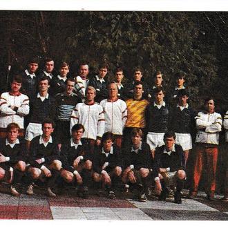 Календарик 1988 Спорт, футбол, футбольная команда высшей лиги Металлист, Харьков