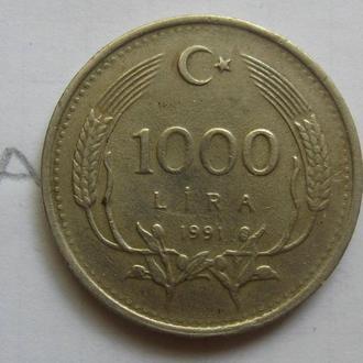 Турция. 1000 лир 1991 года.