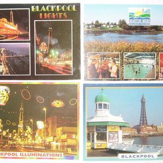 Фото открытки Англия Блэкпул 4шт