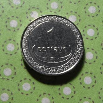 Тимор 2003 год монета 1 сентаво !