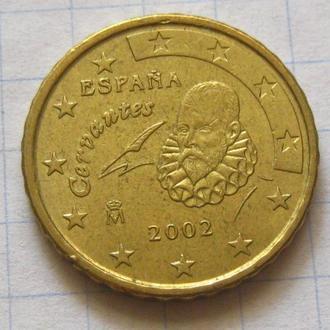 Испания_ 10 евро центов 2002 года  оригинал