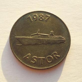 1 Dollar Token, 1987  Astor, Багамы