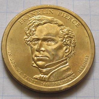 США_ 1 доллар 2010 года P  14-й президент  Франклин Пирс