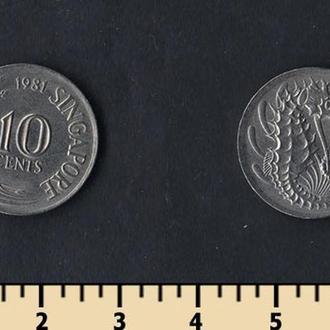 Сингапур 10 центов 1967-1985