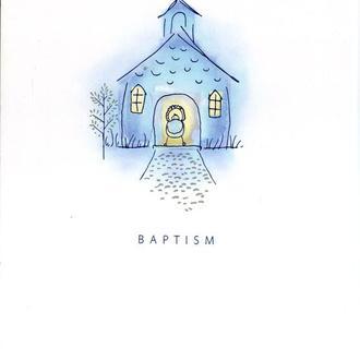 Открытка США - BAPTISM подписанная