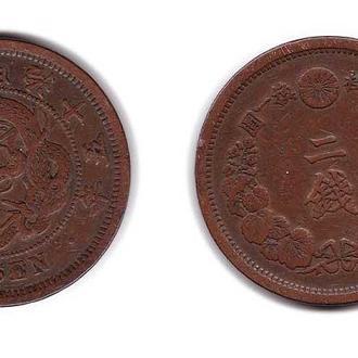 Япония 2 сен 1876-1882