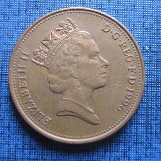 Монета 2 пенса Великобритания 1996