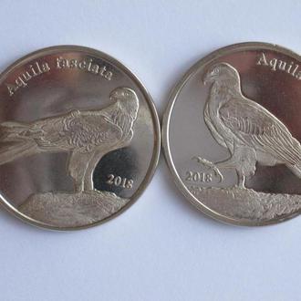 Шетландские острова 1 фунт 2018 ОРЛЫ 2 монеты