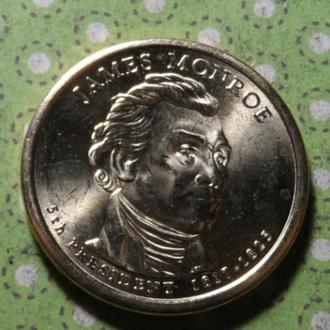 США 2008 D год монета 1 доллар Америка 5-й Президент Джеймс Монро !