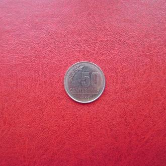 Уругвай 50 сентесимо 1998
