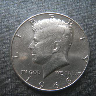США 1/2 доллара 1966 Серебро