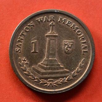 Остров Мэн, 1 пенни 2009 года, юб (2018)