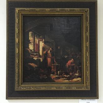"Картина ""Знахарь"", Европа, малые голландцы."