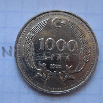 Турция. 1000 лир 1993 года.