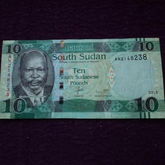 Южный Судан 2015г. 10 фунтов.