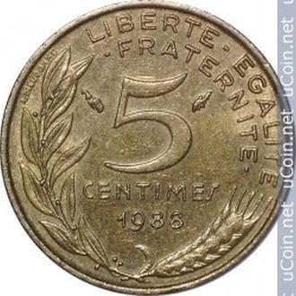 Франція 5 сантимів, 1988